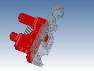 Vertical direct extruder - MK7 gear / easy mount system