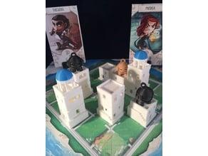 Santorini Print and Play pieces