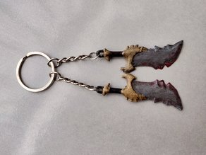Blades of Chaos keychain