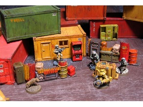 28mm Kitset Shipping Containers