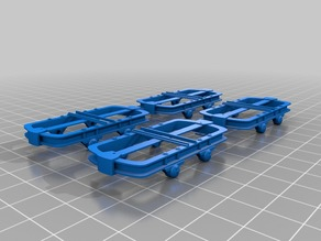 Lorrie frame 1:32 scale (If - 16mm model track width) Assembled