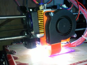 Cooling fan holder for Geeetech Prusa I3X