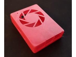 RaspberryPi 3 case with large aperture logo, no screws