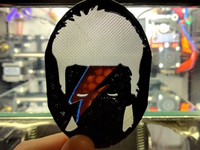 David Bowie Ziggy Stardust layered silhouette