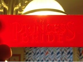 Princess Bride - Litho-Bookmark