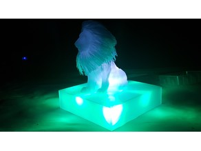 Illuminated Stand for Hairy Hollow Lion