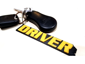 """Driver"" Game keychain"