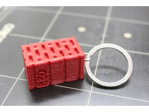 Tiny brick keychain/pendant