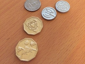 Coins for boardgames (Caverna!)