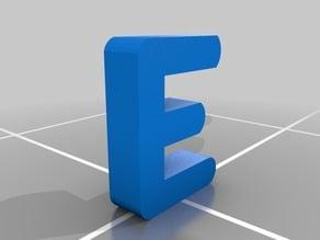 The Letter 'E'