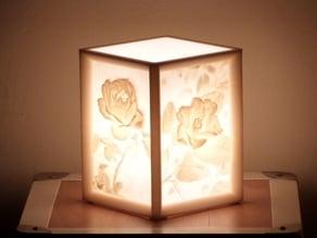 More-Than-a-Lithophane Camellia & Rose Lamp
