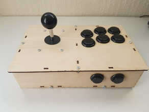 Laser Cut Portable Arcade Fight Stick For Raspberry Pi