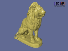 Sitting Lion Sculpture