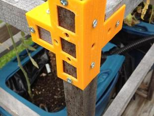 Frame Brackets for Garden Stakes and other 1x1 wood