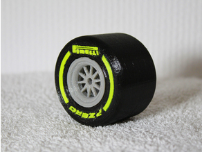 Formula 1 2018 Rear Wheel (Scale 1:10)