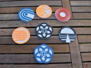 Classic Epcot Logo Coasters