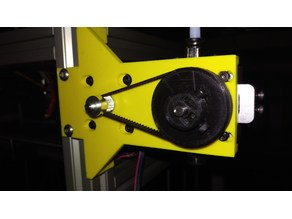 BullDog Extruder mount with 1:4 speed reduction for 2.85 mm filament (for 3030 extrusions)