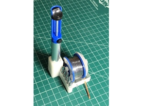 Simple Solder Stand With Accessory Holders
