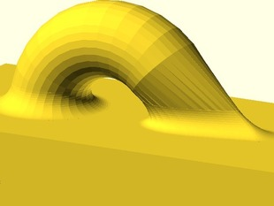 Inner Bevel between any (convex) Shape and a Plane In OpenSCAD