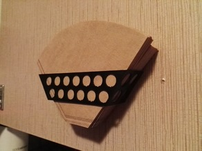 Kaffeefilterhalter zum Anschrauben - Coffee Filter Holder with Screw Holes