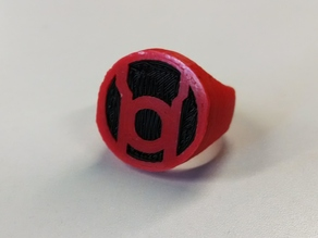 Red Lantern Ring for Dual Extrusion