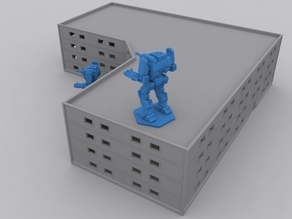 Small Appartment Building 1/285 scale (Battletech)