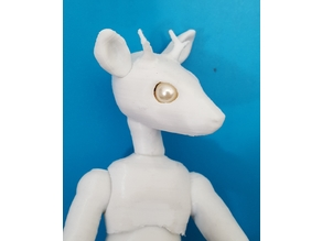 Deer head (for a bjd)