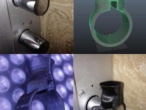 Pharo shower panel SkyLine leverage knob.