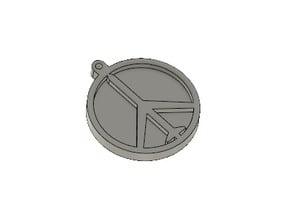 MGS Peacewalker logo keychain