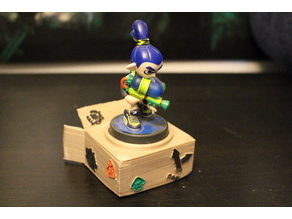 Splatoon Amiibo Stand - Cardboard Box