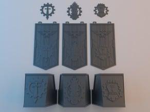 Details & ornaments for Wardog Titanic Robot
