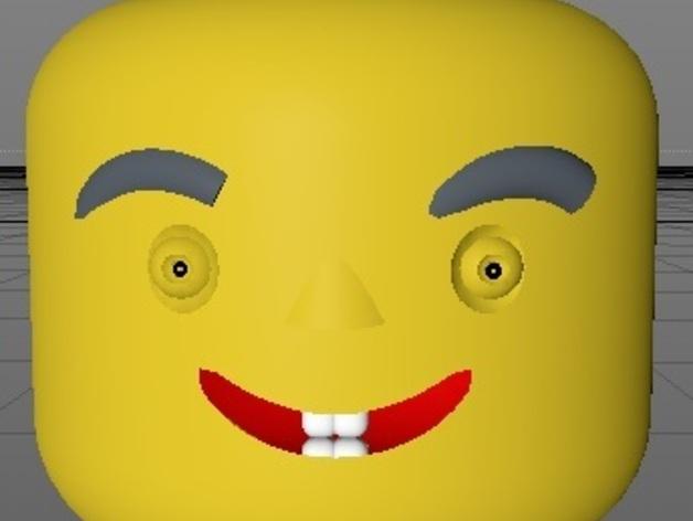 New Custom Design Lego Head Ver 4b By Kysyth Thingiverse