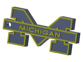 U of M Logo Key Fob