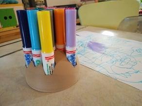 Crayola markers holder