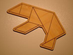 Tangram Bear puzzle