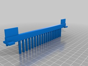 Gel Comb for Making Round Wells