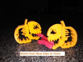Pumpkin Jack o Lantern Clipz, Halloween Ready, Snack Ready, Flame On!