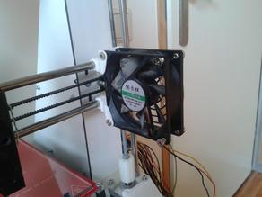 Extra 80mm cooling fan x-as prusa I3