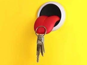 Tongue keychain