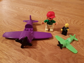 Toy plane with turning prop - Duplo/Lego compatible