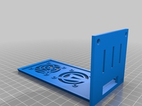 RAMPS 1.4 enclosure for i3 single sheet frame. REMIXED by Blackhawk