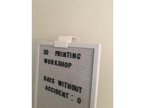 Cafe Letter board Cubical mount