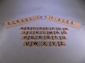 SCRABBLE Pieces and Rack