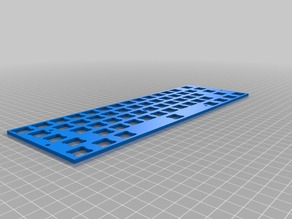 Parametric Cherry MX Mounting Plate for Mechanical Keyboards