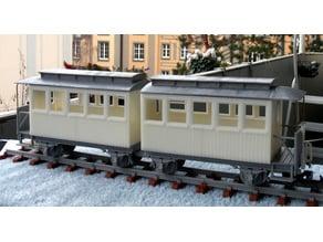 Sächsischer Personenwagen 25K / 8K  Doppelwagen passend zu Lokomotive 1K (Thing: 400667)