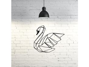 Swan Wall Sculpture 2D II