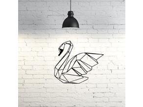 Swan Wall Sculpture 2D II