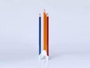 Rocket Pencil Stand