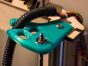 MakerFarm i3v Z rod support  Remix with Extruder Wire Holder