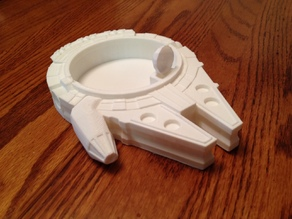 Millennium Falcon Candy Dish with Satellite Spoon #CountertopChallenge